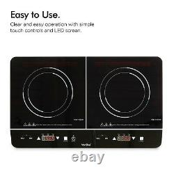 VonShef Induction Hob Double Portable Electric Twin Digital Hot Plate Ceramic