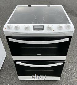 Zanussi Electric Cooker Induction Hob Double Oven 60cm White