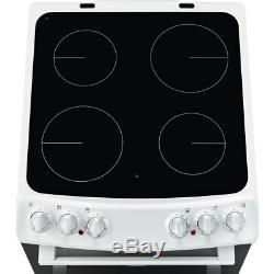Zanussi ZCV46050WA Free Standing A/A Electric Cooker with Ceramic Hob 55cm