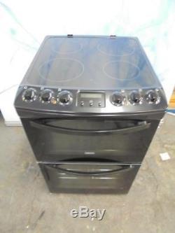 Zanussi ZCV46200BA 55cm Black Double Oven Electric Cooker Ceramic Hob HA1132