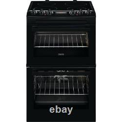 Zanussi ZCV46250BA Free Standing A/A Electric Cooker with Ceramic Hob 55cm