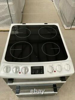 Zanussi ZCV46250WA Free Standing A/A Electric Cooker Ceramic Hob 55cm #LF25733