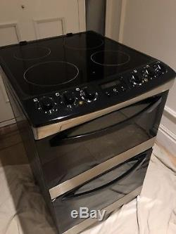 Zanussi ZCV66030XA Electric Cooker Double Oven Ceramic Hob Stainless Steel