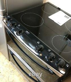 Zanussi ZCV66030XA Stainless Steel 60cm Electric Double Oven Cooker, Ceramic Hob