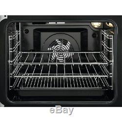 Zanussi ZCV66050BA 60cm Double Oven Electric Cooker With Ceramic Hob ZCV66050BA