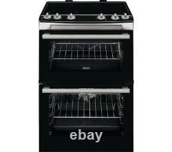 Zanussi ZCV66060XE 60cm Ceramic Hob Double Oven Cooker in Stainless Steel