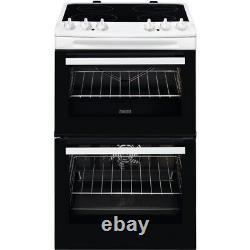 Zanussi ZCV66250WA 60cm Double Oven Electric Cooker Ceramic Hob