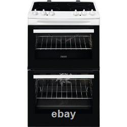 Zanussi ZCV66250WA 60cm Double Oven Electric Cooker Ceramic Hob A115671