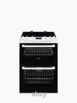 Zanussi ZCV66250WA 60cm Electric Cooker with Ceramic Hob White FA9701