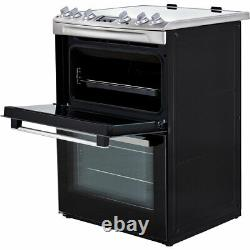 Zanussi ZCV66250XA Free Standing A/A Electric Cooker with Ceramic Hob 60cm