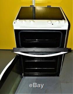 Zanussi ZCV680TCWA 60cm Twin Cavity Electric Cooker-Ceramic Hobs