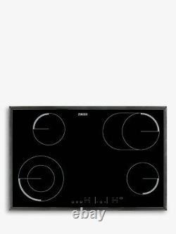 Zanussi ZEV8646XBA Ceramic Electric Hob, Black Glass 77cm