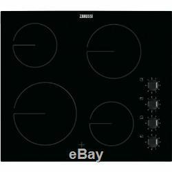 Zanussi ZHRN640K 59cm 4 Burners Ceramic Hob Black