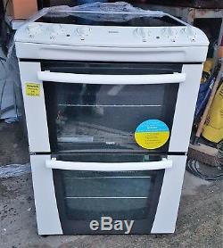 Zanussi ZKC 80000VV 60cm Electric Cooker Ceramic Hobs Double Oven