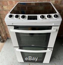Zanussi ZKC5540W 55cm Electric Cooker White Double Oven Timer Ceramic Hob